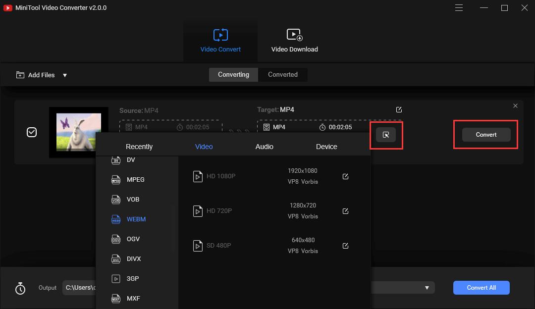 Mp4 to webm for mac windows 10